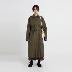 rain boxy double trench coat (3colors)