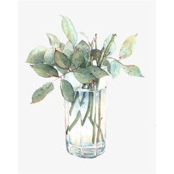 DIY명화그리기세트 나뭇잎 글라스 40x50 물감2배 컬러