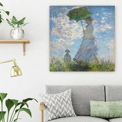 클로드모네 우산을 쓴 여인 캔버스 액자(350mmx350mm)