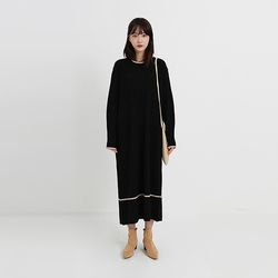 golgi long round knit one-piece (2colors)