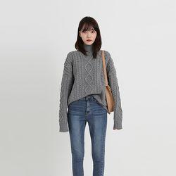 twist pola loose knit (4colors)