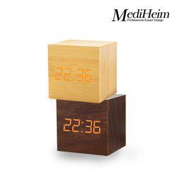 메디하임 LED 우드시계 1293