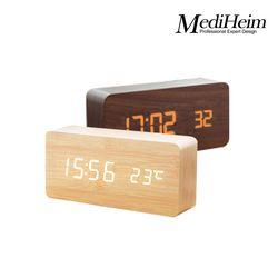 메디하임 LED 우드시계 1299