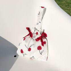스트랩파우치 Strap pouch (CHERRY-WHITE)