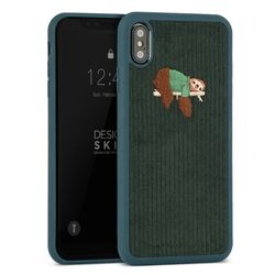 [무료배송] 아이폰XMAX 코듀로이 부클 바타입-그린나무늘보