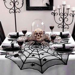 할로윈 거미줄 테이블 데코 천
