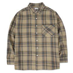 18 AW Semi overfit CheckShirts Beige