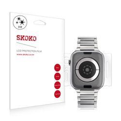 스코코 애플워치4 44mm 유광 전신 외부보호필름 2매