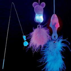펫투유 우쭈쭈 LED 고양이 낚시대