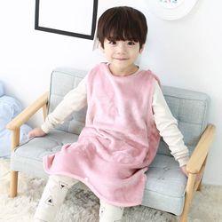 [엔비키즈] 극세사 아동 수면조끼 핑크