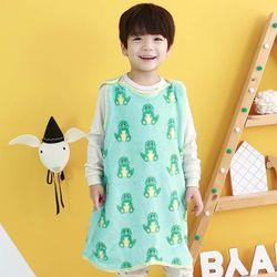 [엔비키즈] 극세사 아동 수면조끼 공룡