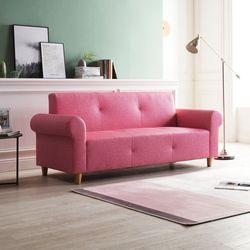 3인 앙팡 핑크 소파
