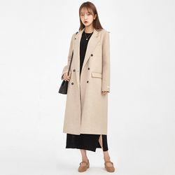 double handmade long coat (wool75)