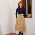 BELT POINT MIDI SKIRT