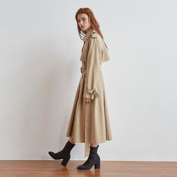 SINGLE BUTTON TRENCH COAT(BEIGE)