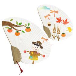 스텐실부채만들기-가을풍경허수아비(3인세트)