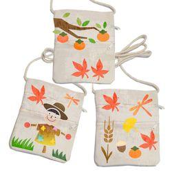 스텐실휴대가방만들기-가을풍경허수아비(3인세트)