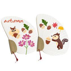 스텐실부채만들기-가을다람쥐도토리(3인세트)