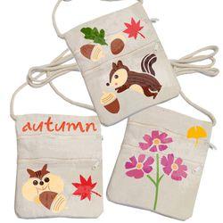 스텐실휴대가방만들기-가을다람쥐도토리(3인세트)