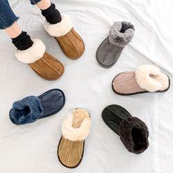 발이 따뜻한 스웨이드 발바닥내피 겨울 뮬 모카신블로퍼