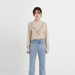 frill pintuck blouse (2colors)