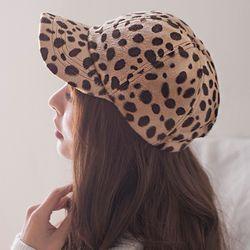 레오파드 볼드캡 모자