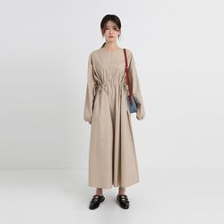 round string maxi one-piece (2colors)