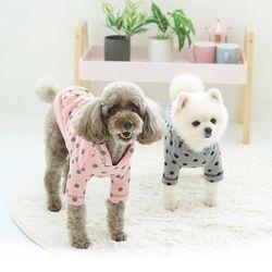 패리스독 강아지옷 도트후드티