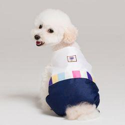메종드독 강아지옷 애견 한복 색동 올인원