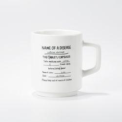 홈카페 머그컵 카페인쇼티지 스택컵 화이트 유광 (350ml)