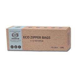친환경 슈가랩 에코 지퍼백 (중 20매)