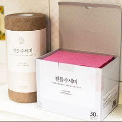 리프레쉬 일회용 수세미 박스타입 30매