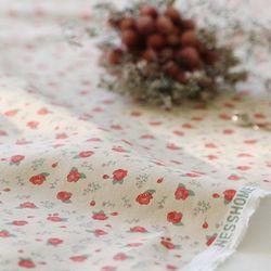 [Fabric] 수줍은듯 붉게 물든 카멜리아 패턴 린넨