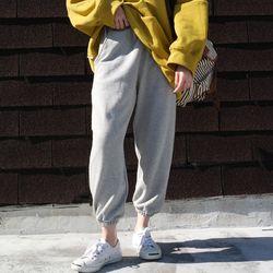 Natural banding jogger pants