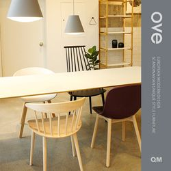 오브(Ove) 테이블 리노 화이트 W2000 x D900