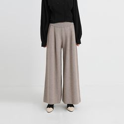 pintuck wide knit pants (3colors)