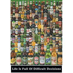 PP0273 인생은 어려운 결정으로 (맥주병)(포스터만)