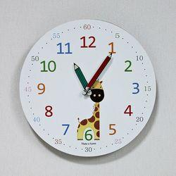 (kthx0441)저소음 교육용 시계 260 (기린)