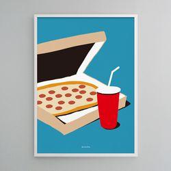 유니크 디자인 포스터 M 소울메이트 피자 A3(중형)