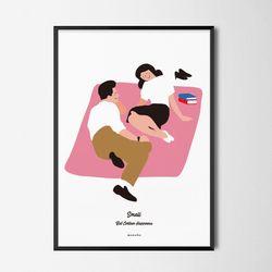 유니크 디자인 포스터 M 소확행5 소풍 A3(중형)