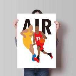 유니크 디자인 포스터 M 마이클조던 에어 A3(중형)