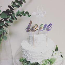 PP CAKE TOPPER - L O V E ( 케이크 토퍼 )