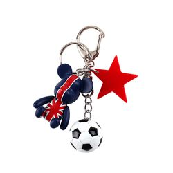 라템 스포츠 곰돌이 키링축구공(AG2K8C01BALD)