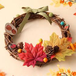가을향기 원형리스만들기(1개)가을만들기가을리스