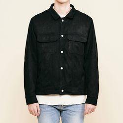 (UNISEX) 스탠다드 스웨이드 퀄팅 재킷 블랙