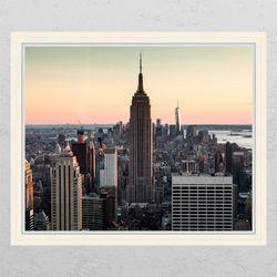 ca659-고층건물들창문그림액자