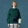 [예약판매 2/25 발송] [앤커버] Color block sweatshirt-dark green