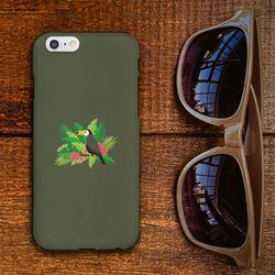 [A5A7A8] toucan flower 카키 하드 케이스