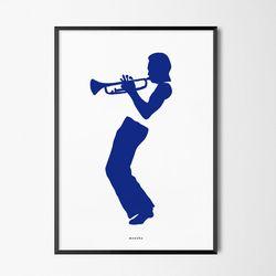 유니크 인테리어 디자인 포스터 M 마일스 재즈 A3(중형)