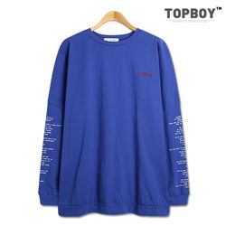 [탑보이] 팝송 오버핏 긴팔 티셔츠(MZ205)